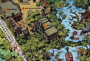 Haunted Mansion on 1958 Map