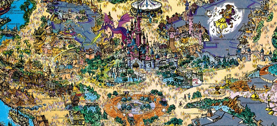 1992 euro disneyland souvenir map disneyland paris treasures disneyland paris treasures gumiabroncs Gallery