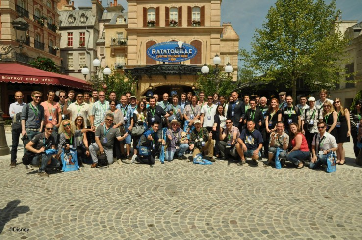 Disneyland Paris official group picture of the Ratatouille Preview Event