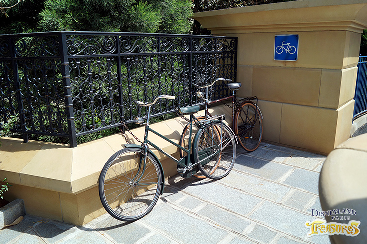 The Imagineers have cleverly hidden details everywhere like this bicylce parking spot