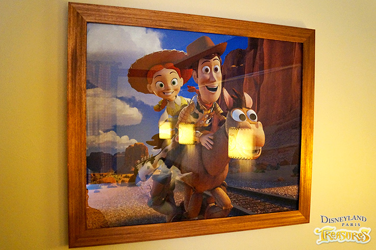 Hotel Cheyenne - A scene from Toy Story 3 framed on the wall